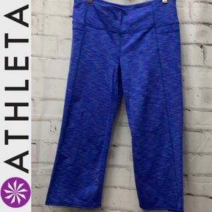Athleta Split Capri Leggings Blue Size Large